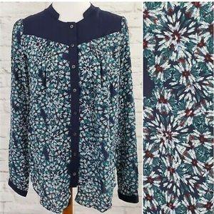 Anthro Moulinette Soeurs Silk Floral Blouse